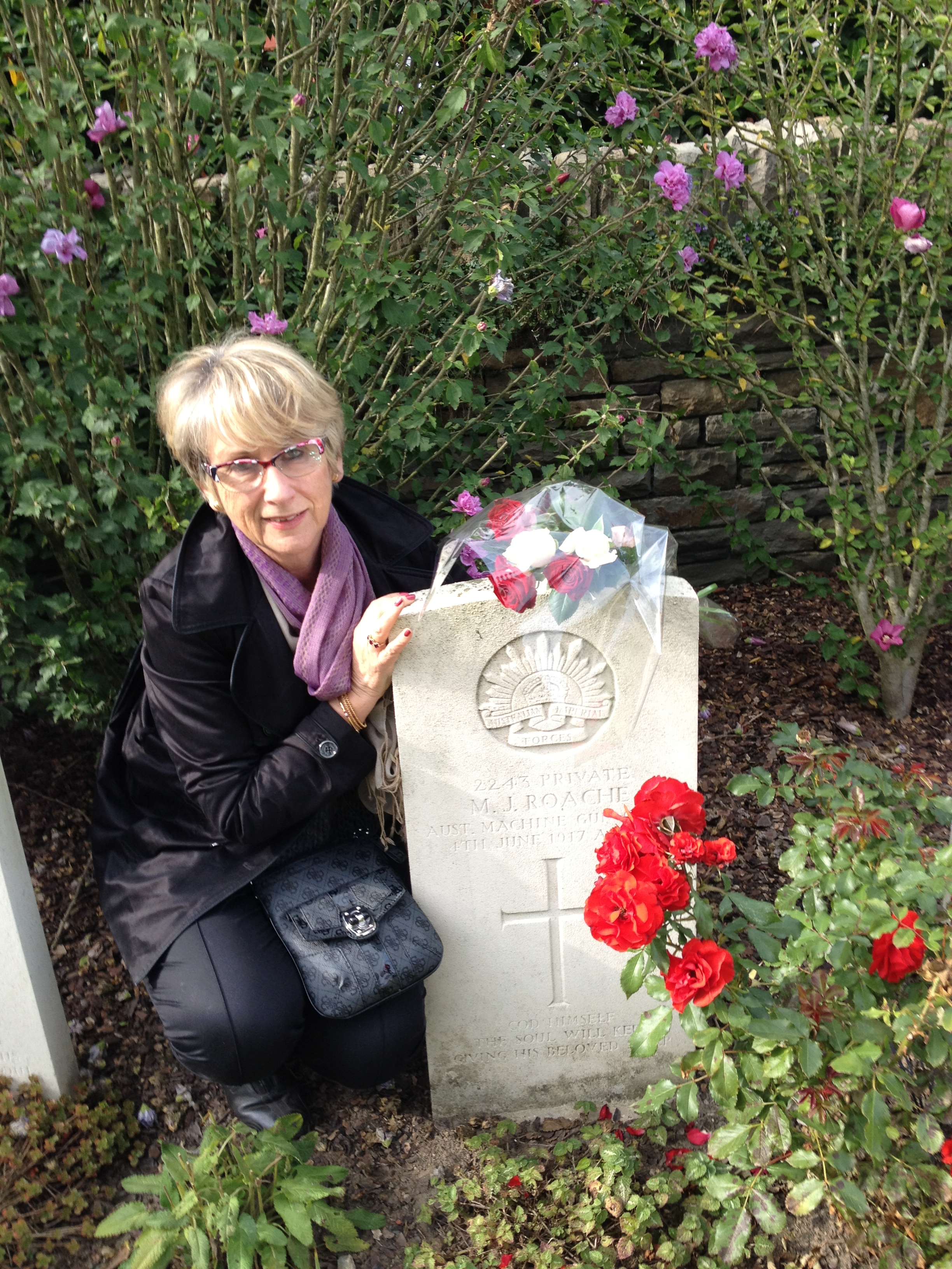 Libby Hathorn at the Somme